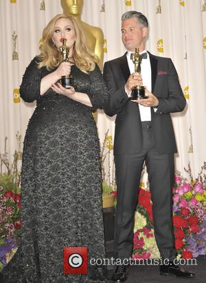 Adele Adkins and Paul Epworth - The 85th Annual Oscars at Hollywood & Highland Center - Press Room - Los...