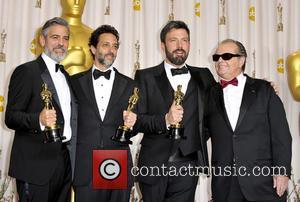 George Clooney, Grant Heslov, Ben Affleck and Jack Nicholson