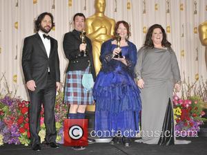 Paul Rudd, Mark Andrews, Brenda Chapman and Melissa McCarthy