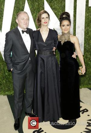 Francois-Henri Pinault and Salma Hayek - 2013 Vanity Fair Oscar Party at Sunset Tower - Arrivals - West Hollywood, California,...