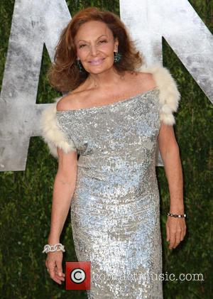 Diane von Furstenberg - 2013 Vanity Fair Oscar Party at Sunset Tower - Arrivals - West Hollywood, California, United States...