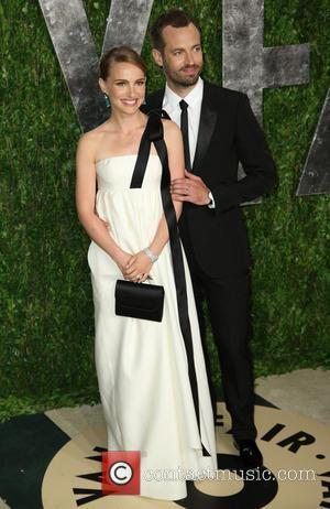 Natalie Portman and Benjamin Millepied - 2013 Vanity Fair Oscar Party at Sunset Tower - Arrivals - West Hollywood, California,...
