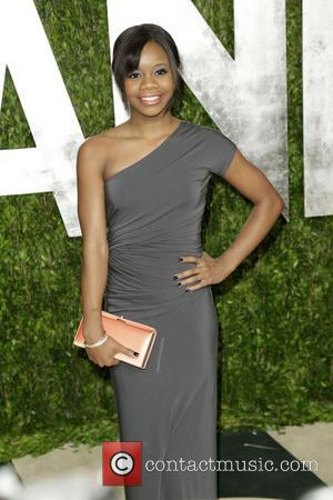 Gabby Douglas - 2013 Vanity Fair Oscar Party at Sunset Tower - Arrivals - Los Angeles, CA, United States -...
