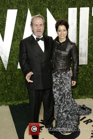 Tommy Lee Jones and Dawn Laurel-Jones - 2013 Vanity Fair Oscar Party at Sunset Tower - Arrivals - Los Angeles,...