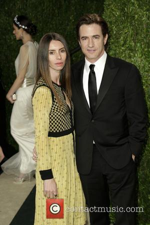 Dermot Mulroney and Tharita Catulle - 2013 Vanity Fair Oscar Party at Sunset Tower - Arrivals - Los Angeles, California,...