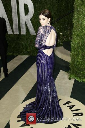 Lily Collins - 2013 Vanity Fair Oscar Party at Sunset Tower - West Hollywood, California, United States - Sunday 24th...