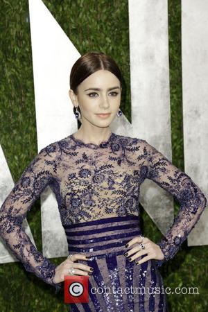 Lily Collins - 2013 Vanity Fair Oscar Party at Sunset...