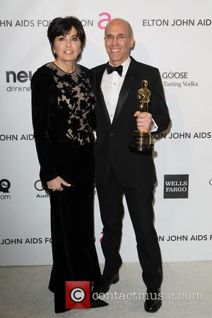 Jeffrey Katzenberg and Marilyn Katzenberg - 21st Annual Elton John AIDS Foundation's Oscar Viewing Party - Los Angeles, California, United...