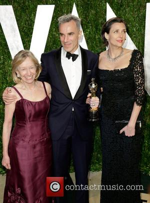 Doris Kearns Goodwin, actor Daniel Day-Lewis and Rebecca Miller - 2013 Vanity Fair Oscar Party at Sunset Tower - Arrivals...