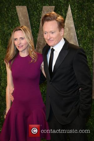 Conan O'Brien and Liza Powel - 2013 Vanity Fair Oscar Party at Sunset Tower - Arrivals - Los Angeles, California,...