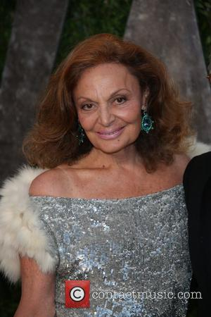 Diane von Furstenberg - 2013 Vanity Fair Oscar Party at Sunset Tower - Arrivals - Los Angeles, California, United States...