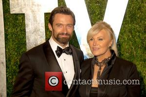 Hugh Jackman and Deborra-Lee Furness - 2013 Vanity Fair Oscar Party at Sunset Tower - Arrivals - Los Angeles, California,...
