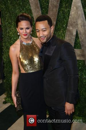 John Legend and Christine Teigen - 2013 Vanity Fair Oscar Party at Sunset Tower - Arrivals - Los Angeles, California,...