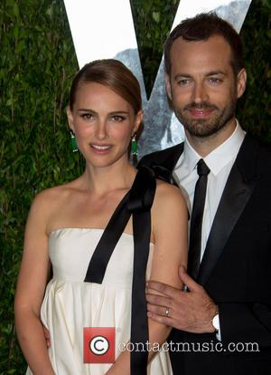 Natalie Portman and Benjamin Millepied - 2013 Vanity Fair Oscar Party at Sunset Tower - Arrivals - Los Angeles, California,...