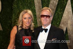 Peter Fonda and Margaret DeVogelaere - 2013 Vanity Fair Oscar Party at Sunset Tower - Arrivals - Los Angeles, California,...