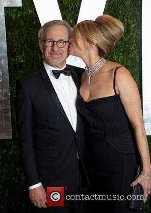 Steven Spielberg and Kate Capshaw - 2013 Vanity Fair Oscar Party at Sunset Tower - Arrivals - Los Angeles, California,...
