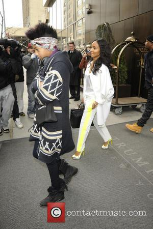 Willow Smith and Jada Pinkett-Smith - The Smith family is seen out and about all over Manhattan on various excursions...