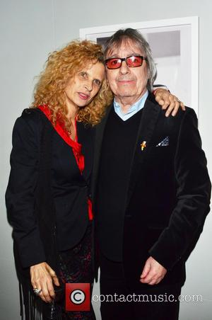 Bill Wyman - A private view of Bill Wyman's new exhibit 'Reworked' at Rook & Raven Gallery, Rathbone Place London...