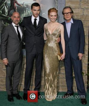 Stanley Tucci, Nicholas Hoult, Eleanor Tomlinson and Bill Nighy - Premiere of New Line Cinema's 'Jack The Giant Slayer' held...