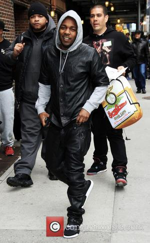 Kendrick Lamar - Celebrities outside the Ed Sullivan Theatre for 'The Late Show with David Letterman' - New York City,...