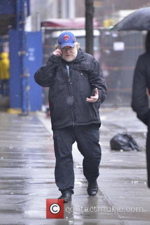 Philip Seymour Hoffman - Philip Seymour Hoffman talks on a mobile phone as he walks through the west village on...