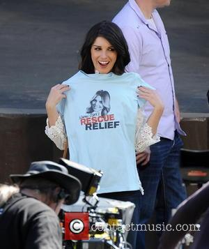 Shenae Grimes - Celebrities on the set of the hit tv show 'Beverly Hills 90210' - Los Angeles, California, United...