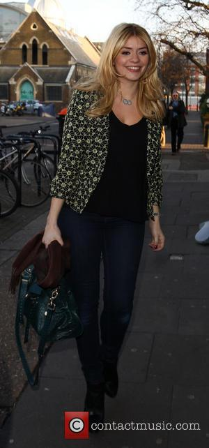 Holly Willoughby - Celebrities arriving at the Riverside studios to film the new series of 'Celebrity Juice' - London, United...