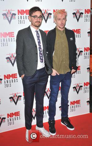 Thom Green and Gus Unger-Hamilton of Alt-J - The 2013 NME Awards held at The Troxy - Arrivals - London,...