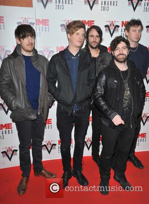 Foals, Yannis Philippakis, Jack Bevan, Walter Gervers, Edwin Congreave, Jimmy Smith and Andrew Mears