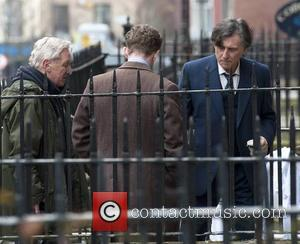 Gabriel Byrne - BBC 3 part miniseries 'Quirke' about a 1950s Dublin pathologist shooting on North Great Georges Street, -...