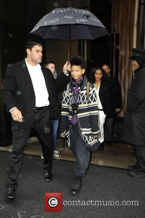 Willow Smith and Jada Pinkett-Smith - The Smith family depart their downtown hotel in Manhattan - New York, New York,...