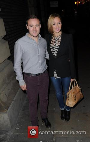 Alan Halsall and Lucy Jo Hudson - Coronation Street star, Natalie Gumede's leaving party at Annie's Restaurant - Manchester, United...