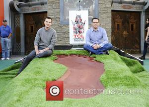 Nicholas Hoult and Brain Singer - A giant footprint is unveiled during a photocall promoting the movie 'Jack the Giant...