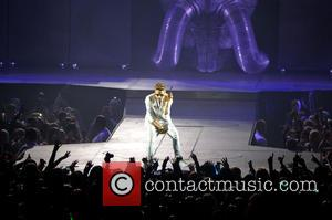 Justin Bieber - Justin Bieber performing in concert his 'All Around The World' tour at the National Indoor Arena -...
