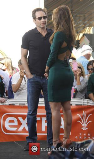 David Duchovny - Extra! Taping at The Grove hosted by Maria Menounos - Los Angeles, California, United States - Thursday...