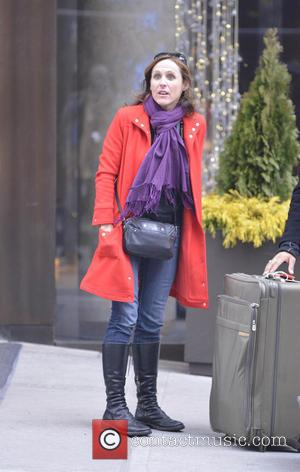 Molly Shannon - Molly Shannon arrives at her Manhattan hotel - New York City, New York , United States -...