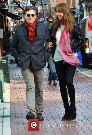Gabriel Byrne - Hollywood actor Gabriel Byrne out and about on Wicklow Street with a female companion - Dublin, Ireland...