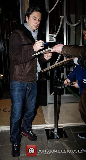 Zach Braff - Celebrities outside their London hotel - London, England, United Kingdom - Friday 1st March 2013