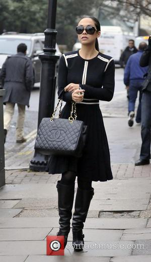 Myleene Klass - Myleene Klass walks her daughter Ava to school - London, United Kingdom - Friday 1st March 2013