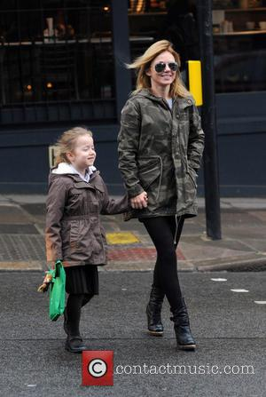 Geri Halliwell and Bluebell halliwell - Geri Halliwell walks her daughter Bluebell to school - London, United Kingdom - Friday...