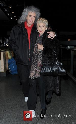 Brian May and Anita Dobson - Artists perform at St. Pancras Station to raise awareness for the 'Born Free Foundation'...