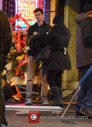 Andrew Garfield And Jamie Foxx Shoot 'The Amazing Spider-man 2' In New York!