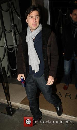 Zach Braff - Celebrities outside Claridge's hotel - London, England, United Kingdom - Saturday 2nd March 2013