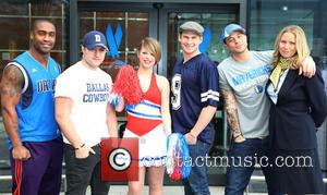 Simon Webbe, Antony Costa, Lee Ryan and Duncan James of Blue - Boy band Blue attend a photocall for American...