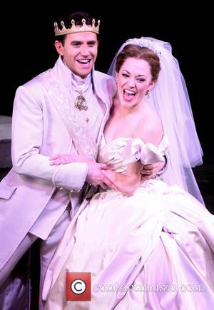 Santino Fontana and Laura Osnes - Curtain call for the premiere of 'Cinderella' at the Broadway - New York City,...
