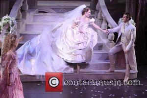 Victoria Clark, Laura Osnes and Santino Fontana - Curtain call for the premiere of 'Cinderella' at the Broadway - New...