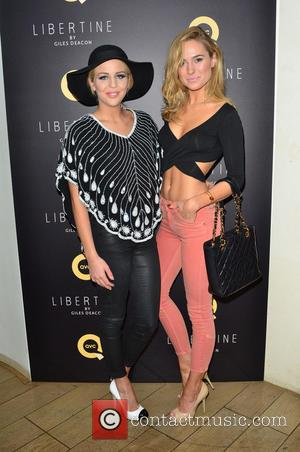 Lydia Bright and Kimberley Garner - Libertine by Giles Deacon Launch event held at The Ivy - London, United Kingdom...