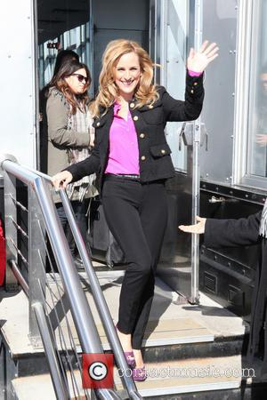 Marlee Matlin - Actress Marlee Matlin From ABC's 'Family's Switched at Birth' at the Empire state Building in New York...