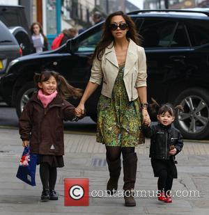 Myleene Klass, Hero Quinn and Ava Quinn