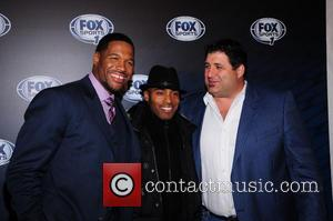 Michael Strahan, Tiki Barber and Tony Siragusa - Fox Sports Upfront Party held at Roseland Ballroom - New York City,...
